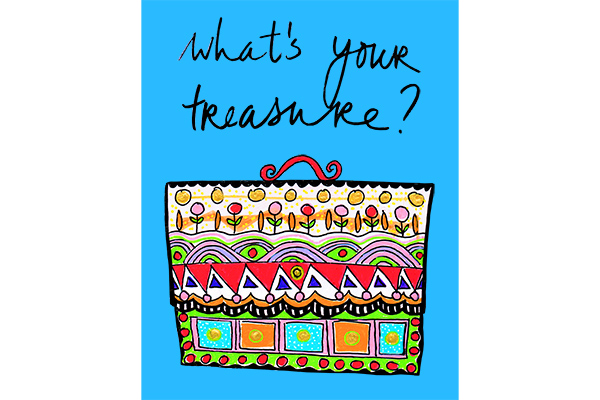 treasurehunt colorful art Mariska Eyck illustration quote db 087 600×400