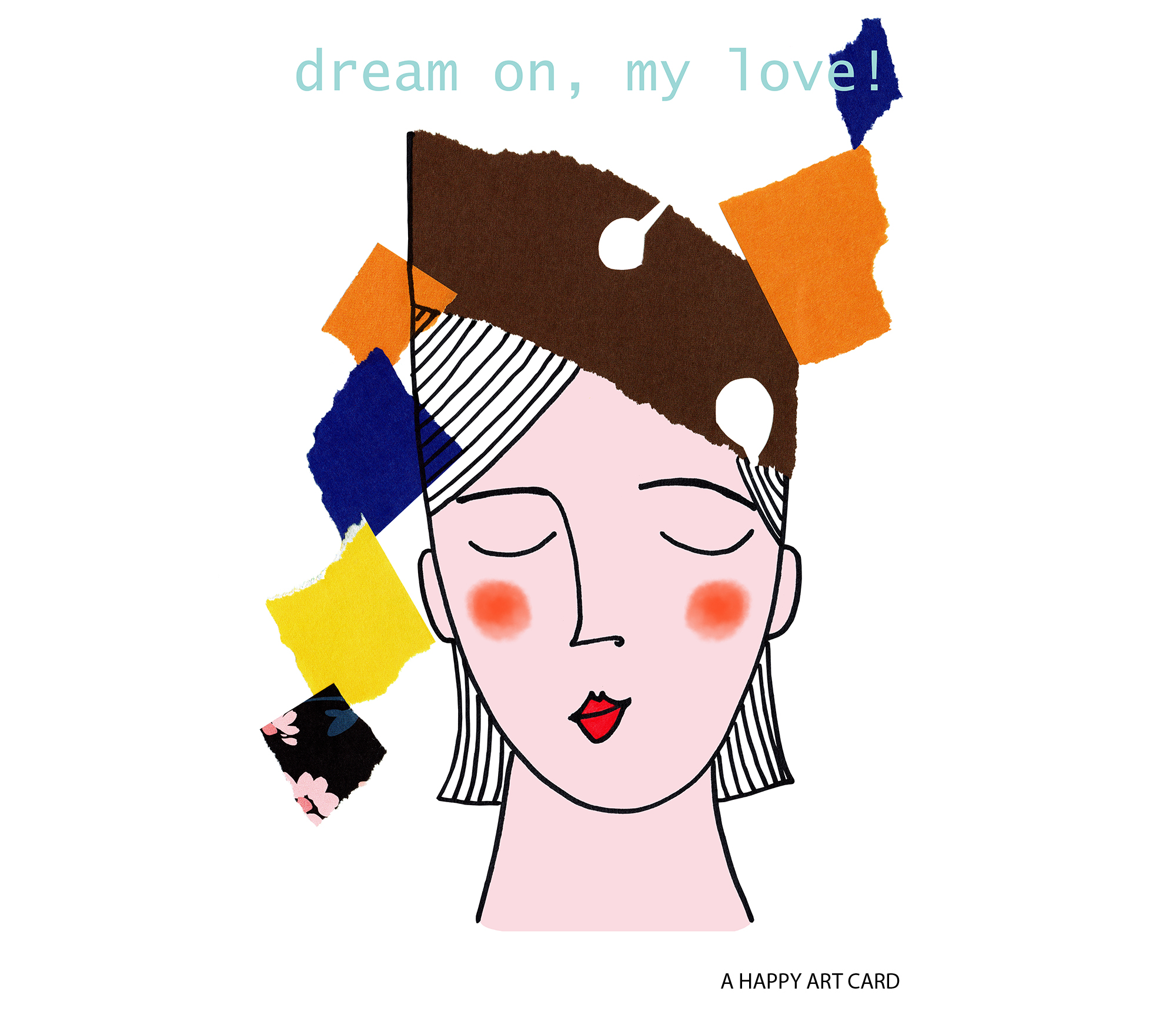happy art card 05 dream on A6 Portrait 100 Etsy jpeg