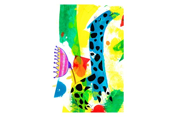 giraffe and flower art mariska eyck 17×26 db 094 400×600 jpeg