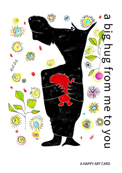 happy art card 013 big hug map 4 A6 100 jpeg