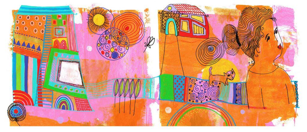 story yelling, happy art, art sparkle,