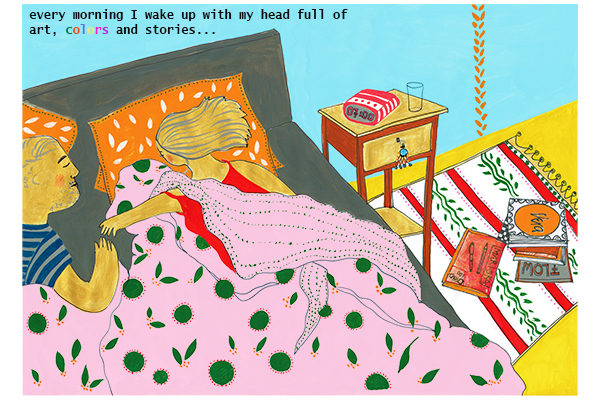panel 2 wake up gn color art mariska eyck kunstboek RGB 400×600
